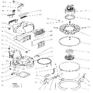 Lindhaus HF6 Vacuum Cleaner Tank Parts & Accessories