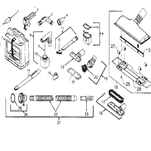 Kirby Generation 3 Vacuum Attachment Schematic