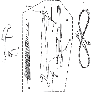 Kirby Heritage II Vacuum Cleaner Handle Parts & accessories