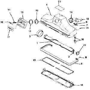 Kirby Heritage II Vacuum Cleaner Head Parts