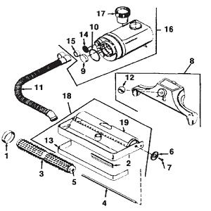 Kirby Heritage II Vacuum Cleaner Rug Renovator Parts & accessories