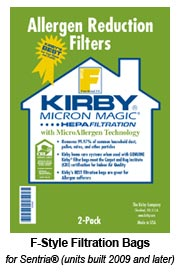 Kirby Micron Magic Hepa Cloth F Vacuum Bags 6pk