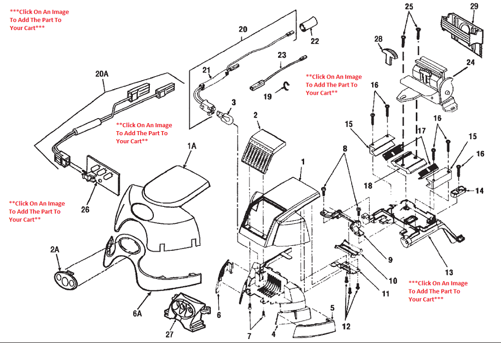Kirby Generation 3 Headlight  U0026 Hood Schematic
